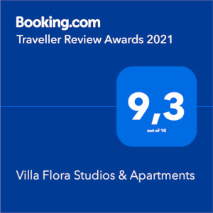 Booking.com 9.3 Villa Flora Studios and Apartments